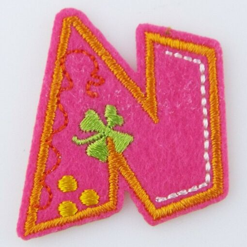 Letter /& Number Iron On Motif Patch Name Alphabet Age Craft Clothing Decoration