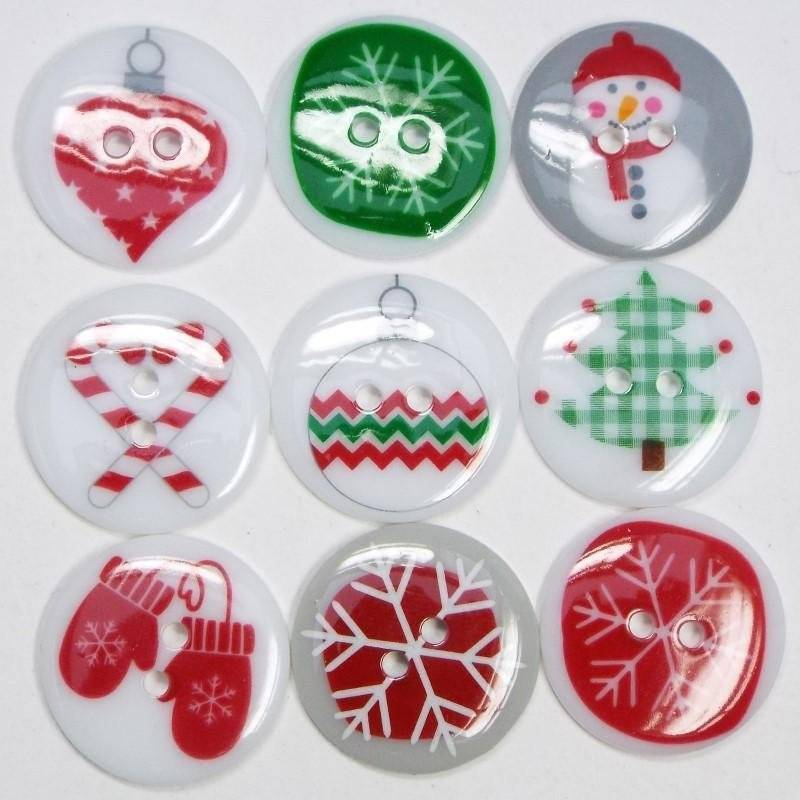 23mm christmas buttons washable craft decoration clothes costume bag topper ukhaberdashery ukbeading surrey foam - Christmas Buttons
