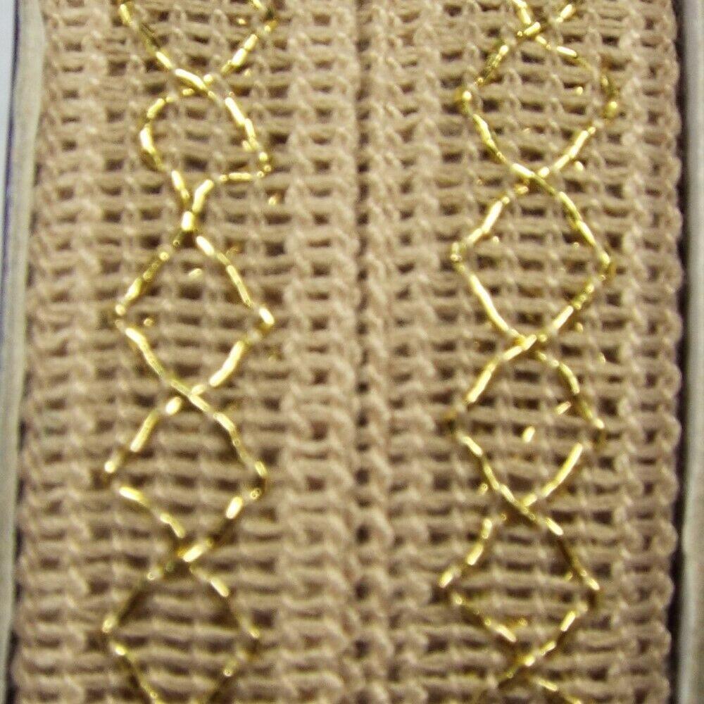 14 COLOUR 14mm Metallic Gold Silver Diamond Ribbon Braid Lurex Lame BUY 1 2 4m+