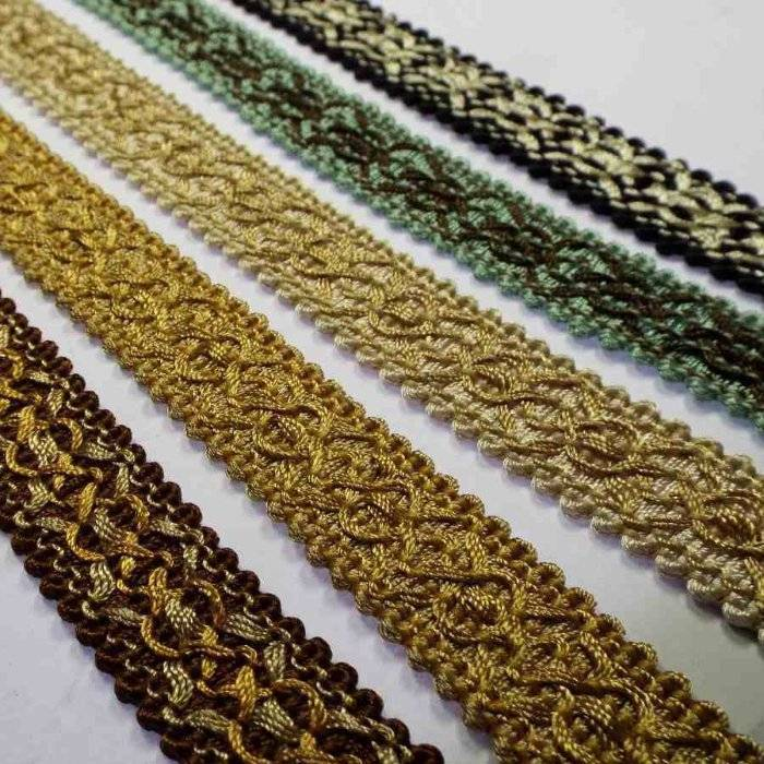 22mm Wide Flat Braid Gimp Trim Upholstery Costume Lampshade Edging  1,2,4  or 8m