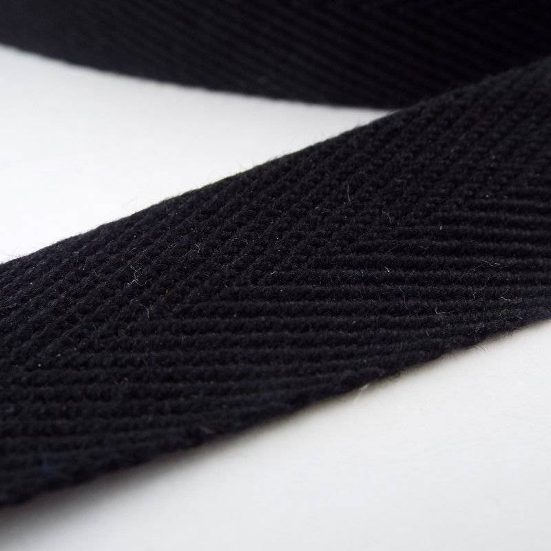 Quality Cotton Herringbone Twill Tape 10 15 20 25 38 /& 50mm Black White Natural