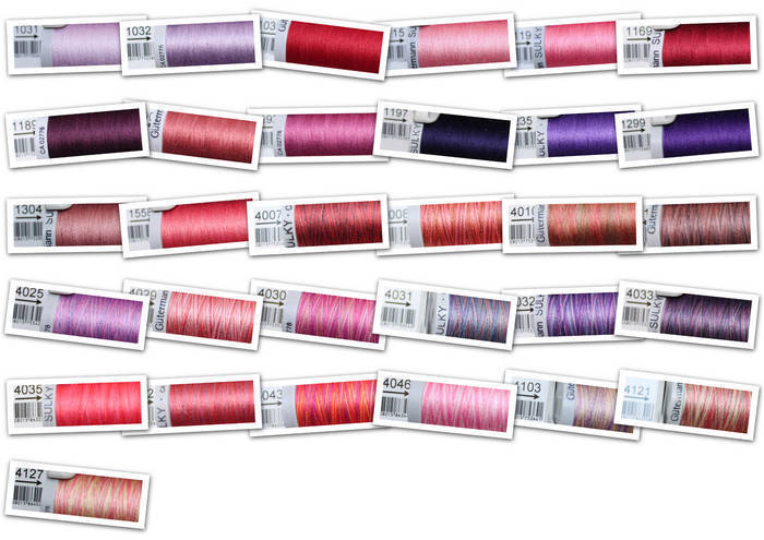 Gutermann Sulky Cotton 30 Sewing Thread 300m Embroidery Pinks