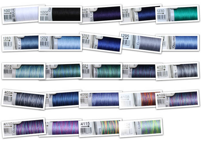 Gutermann Sulky Cotton 30 Embroidery Thread 300m Blues Navy Sky
