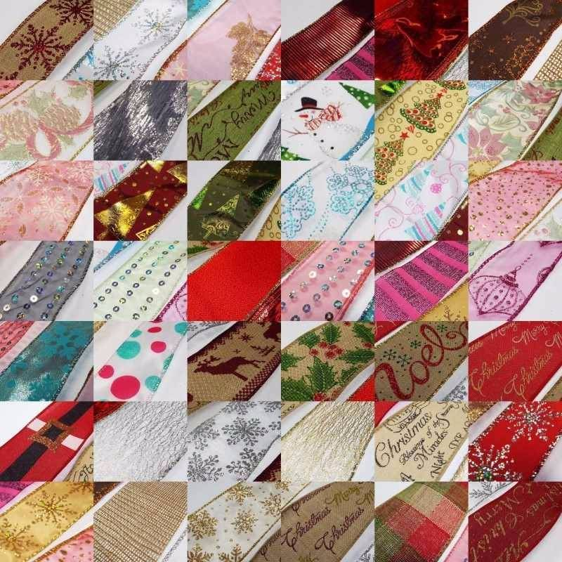 44 great designs quality wide wired christmas ribbon - Wired Christmas Ribbon