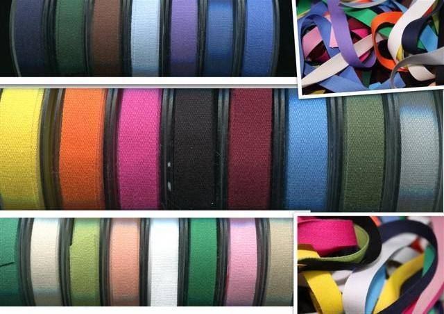 25 COLOUR Quality 14mm Cotton Tape Bunting Aprons Ribbon 2,4,8 or 20 Metres