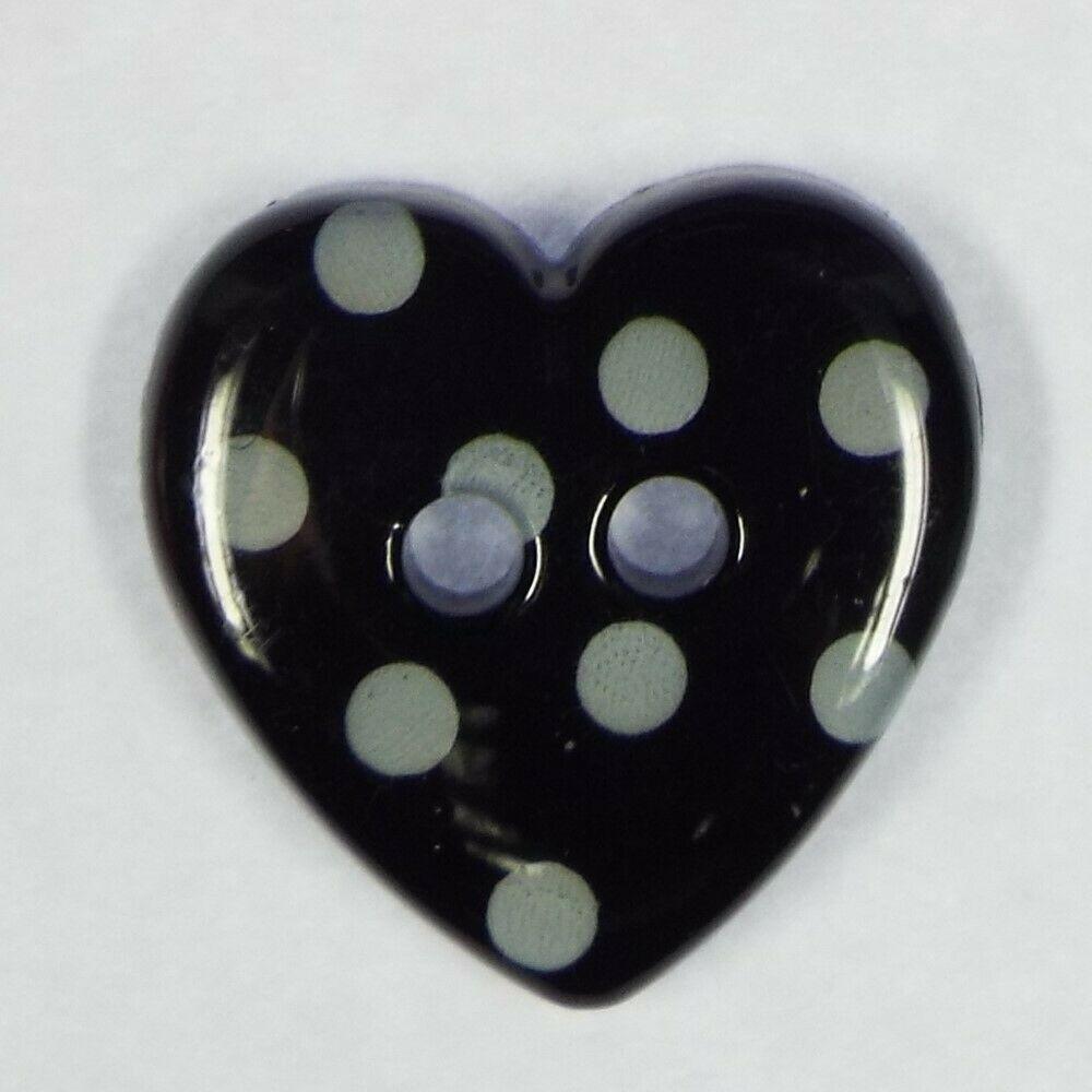 Baby Kid Children Etc WASHABLE Polka Dot Plastic Buttons 15mm Heart /& 18mm Star