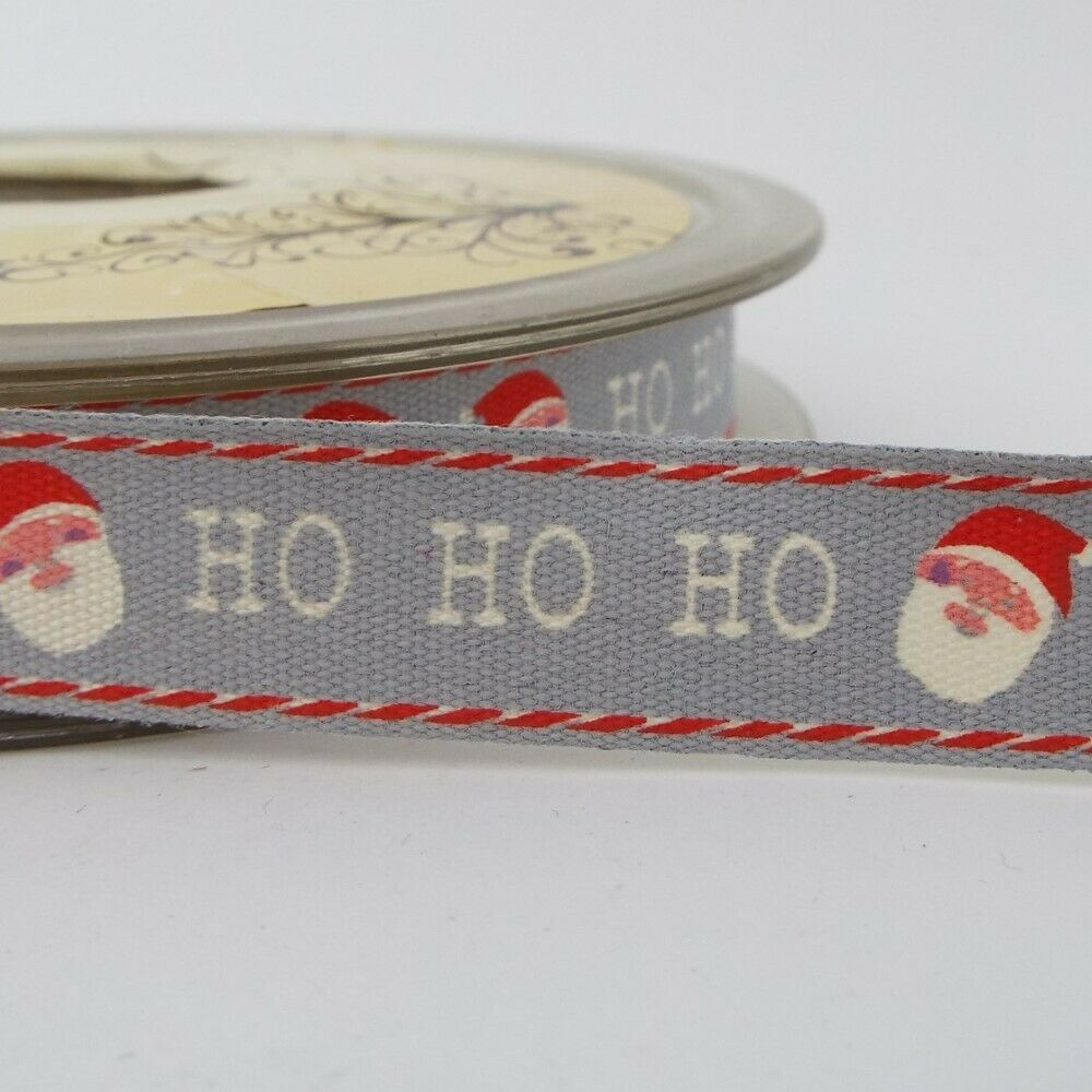 9 DESIGN 15mm Christmas Print Cotton Ribbon Tape Vintage Style BUY 1 2 4m+